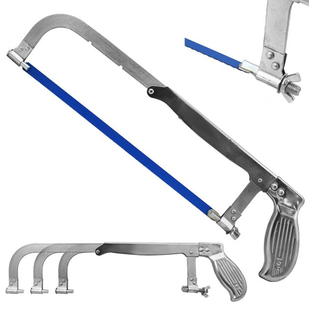 Hacksaw cut through metal rtt telescoping ladder