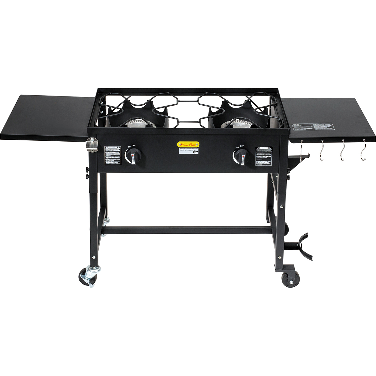 Double Burner Stove Cooking Station Outdoor Camping Propane BBQ Grill 58000 BTU